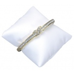 "3"" x 3"" Pillow: White Leather"