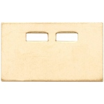 14K Yellow Plate: 1 Size, 10.6 mm x 6.5 mm Dimension, 21 Gauge
