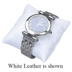 "4"" x 4"" Pillow: Off-White Leather"