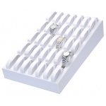 35 Ladies Watch Tray: White Leather