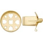14K Yellow Round Open Top Lock: 15.0 mm Size