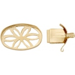 14K Yellow Round Open Top Lock: 12.0 mm x 9.0 mm Size