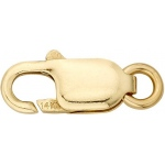 10K Yellow Lobster Gold Lock: 14.0 mm x 5.5 mm Size