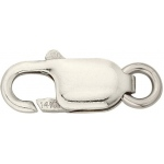 18K White Gold Lobster Lock: 14.0 mm x 5.5 mm Size