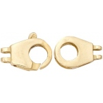 14K Yellow Fancy Clasp: 22.60 mm x 8.1 mm Size