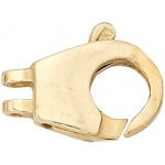 14K Yellow Fancy Clasp: 11.55 mm x 6.85 mm Size