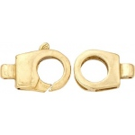 14K Yellow Fancy Clasp: 28.5 mm x 10.0 mm Size