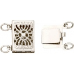 Double Strand Sterling Silver Clasp: 10.40 mm x 7.2 mm Dimension