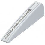1-Bracelet Ramp with Window Slots: White Leather