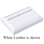 7-Bracelet Tray: Off-White Leather