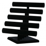 5-Tier, Bangles, Bracelet & Watch T-Bar: Black, Round