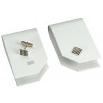 1-Pair Cufflinks Display: White Leather