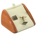 Cufflinks Display: Cream/Beechwood