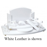 "7"" 2-Level Display Set: Off-White Leather"