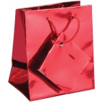 "Assorted Metalic Tote Bag: 5"" x 2.25"" x 6"", Pack of 10"