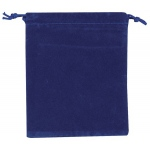 "Blue Velour Drawstring Bags: 2 3/4"" x 3 3/4"", Pack of 10"
