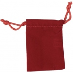 "Burgundy Velour Drawstring Bags: 2.5"" x 3.5"", Pack of 10"