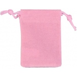 "Pink Velour Drawstring Bags: 4 1/4"" x 5 3/4"", Pack of 10"