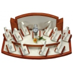 12 Pieces Watch Jewelry Display Set: Cream/Beechwood