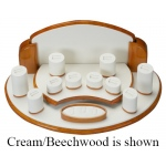 19 Pieces Jewelry Ring Display Set: Black/Beechwood