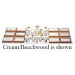 26 Pieces Jewelry Display Set: Black/Beechwood