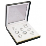 Set of 8 Extra Large Fancy White Cubic Zirconia