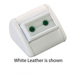 Display with Gem Jar: Off-White Leather, Double