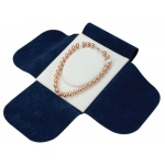 Japanese Suede Necklace Folder: Blue/White