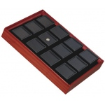 Tray for 12 Square Jars: Cherry/Black