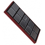 "Tray for 10 Rectangle Jars: Cherry/Black, for 3"" x 2.25"" Plastic Gem Boxes"