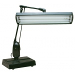 Dazor 2-Tube Desk Lamp: Black