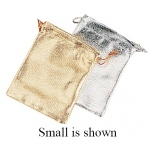 Silver Microfiber Bag: Large, Pack of 10