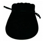 "Black Suede Pouch: 3"" x 3.5"", Pack of 10"