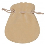 "Camel Suede Pouch: 3"" x 3.5"", Pack of 10"