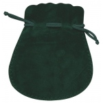 "Green Suede Pouch: 3"" x 3.5"", Pack of 10"