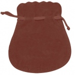 "Brown Suede Pouch: 3"" x 3.5"", Pack of 10"