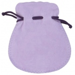 "Purple Suede Pouch: 3"" x 3.5"", Pack of 10"