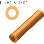 Wolf Off Center Wax Tube: Gold, 1-1/16""