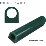 Flat Wax Tube: Blue, 1""