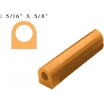 Wolf Flat Top Wax Tube: Gold, 1-5/16""