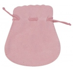 "Pink Suede Pouch: 4.25"" x 5.5"", Pack of 10"