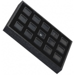 Tray for 15 Square Gem Jars: Black/Black