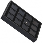 Tray for 12 Square Gem Jars: Black/Black