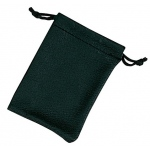 "Black Leather Sack: 3.5"" x 4.5"", Pack of 10"