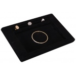 Counter Tray: Black Suede
