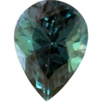 Pear Shape Synthetic Alexandrite: 13.0mm x 9.0mm, 3.50cts