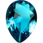 Pear Shape Synthetic Blue Zircon: 13.0mm x 9.0mm, 3.50cts
