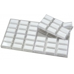 36-Jars in Clear Tray: White