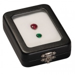 "Glass Stone Box: 2.5"" x 3.5"""