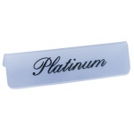 Frosted Plastic Showcase Sign: Platinum/18k Gold